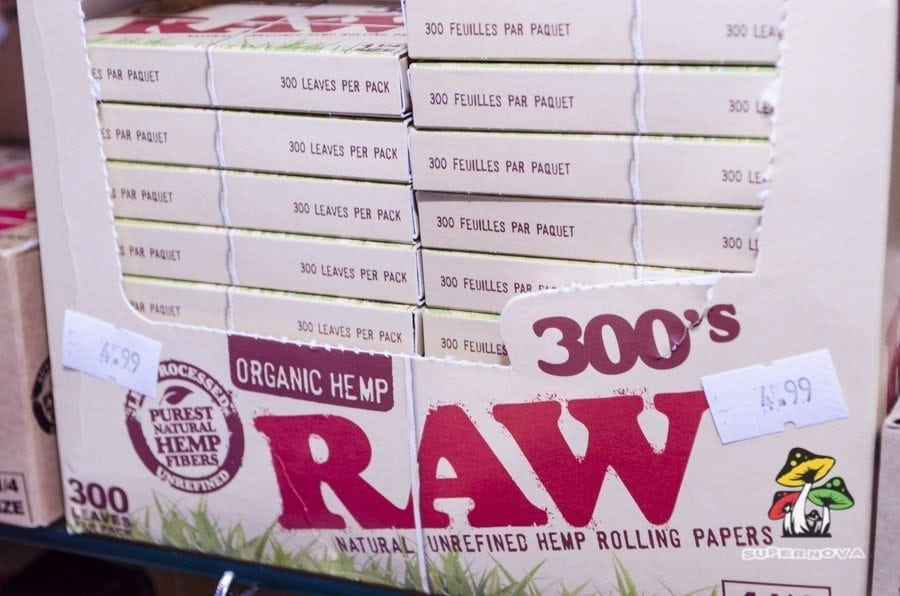 Raw Papers at Supernova Smoke Shop in San Antonio Texas