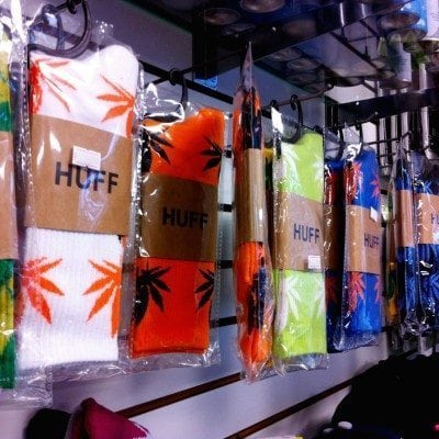 Hemp Leaf Socks by Huff at Supernova Smoke Shop