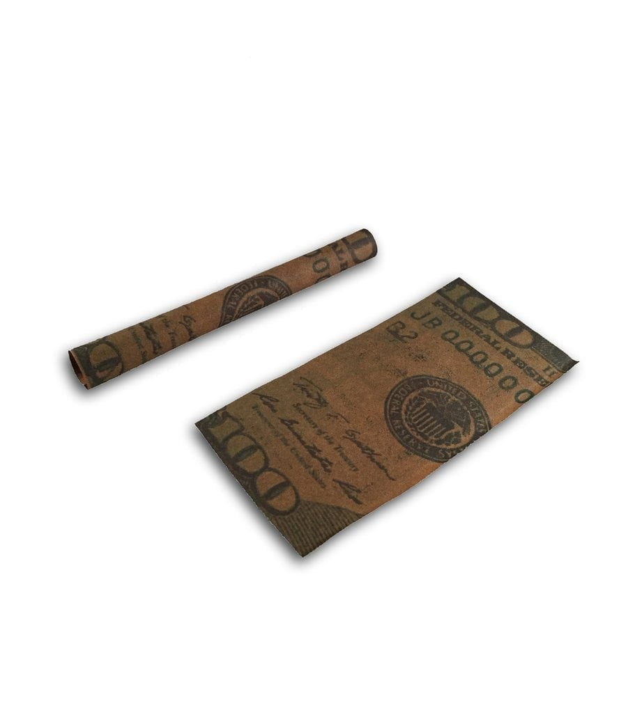 Photo of a roll and a flat Benji Cigar Wrap