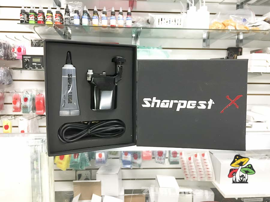 Photograph of the Sharpest X Professional Tattoo Machine