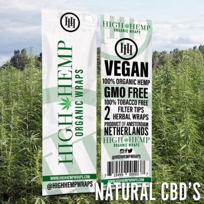 High Hemp Organic Herbal Wraps
