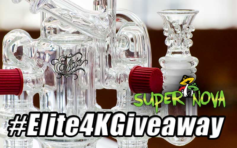 Elite 4K Giveaway – Elite Glass Waterpipe Giveaway