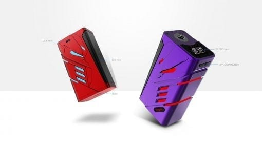 Red and Purple Smok T-Priv Kit