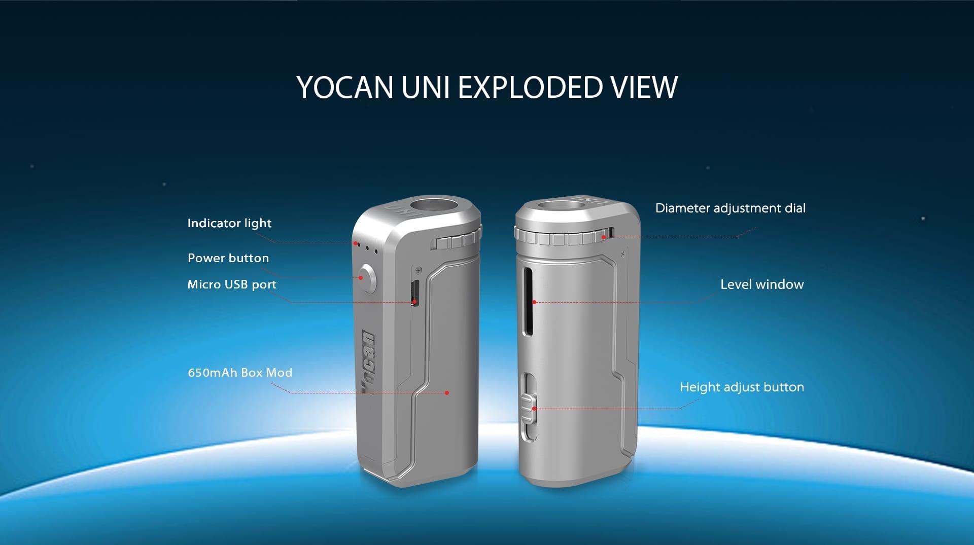 Yocan Uni Cart Battery - Supernova Smoke & Vape Shop
