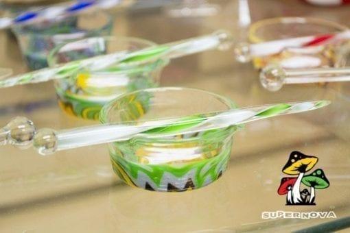 Dab Glass Dish with Glass poker tool