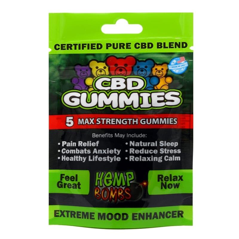 Hemp Bomb CBD Gummies – 5ct | Supernova Smoke & Vape Shop