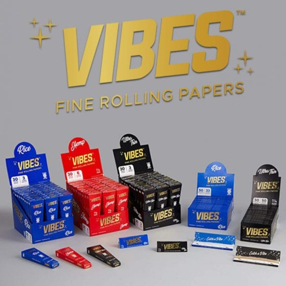Vibes Rolling Papers and Cones